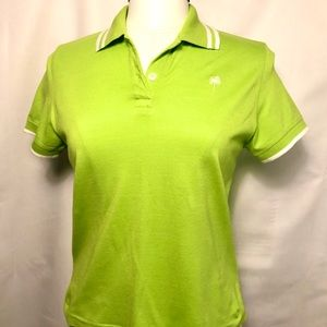 Lilly Pulitzer Lime/White Golf Polo Small
